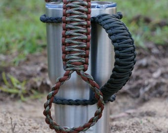 Paracord cup handle