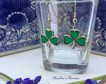 Irish Shamrock Earrings