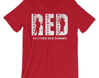 RED | Remember Everyone Deployed Support Our Troops