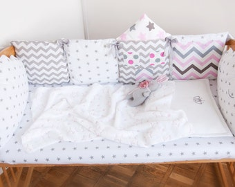 Cot Bumber Crib Bumper Nursery Decor Cushion Baby Bumper Set Decorative Pillow Baby Bedding Sheets Linen Baby Shower Gift First Birthday