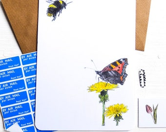 Flowers & Bees - Illustrated Writing Paper