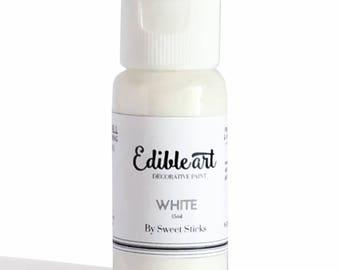 FAST SHIPPING!! White Edible Art Paint, Edible Food Color, White Food Color, Edible Water Color