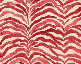 Decorative Pillow Serengeti Coral Animal Print