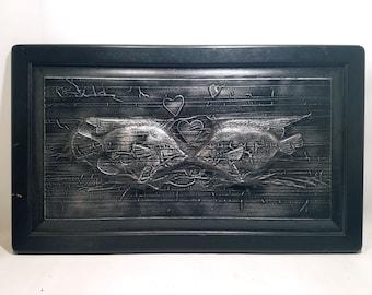 Kissing Fish Frozen in Karbon Kast *Original Sculpture