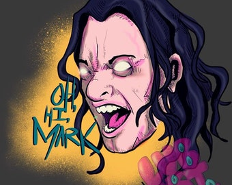 Oh Hi Metal Mark Fine Art Print