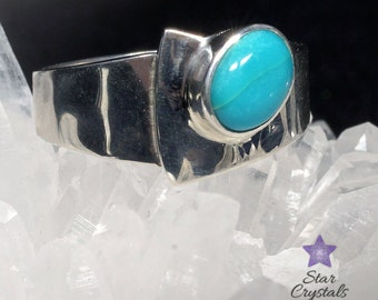 TURQUOISE RING in Sterling Silver - Size 8 (Q)