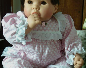 20 inch tall Baby Doll Hard vinyl and Cloth