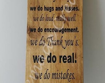 In our Home Hand painted wooden sign