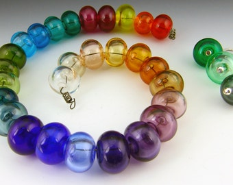Handmade Lampwork Hollow Beads Made to Order 14-15mm