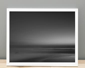 Black and White Abstract Beach Printable Art