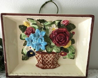 1950's  Porcelain Floral Diorama