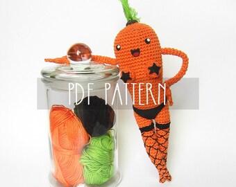 PDF PATTERN - EN - Crochet photo-tutorial for amigurumi - Kinky Carrot
