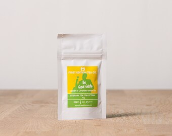 The Great Gatsby Loose Leaf Tea - Gift for Book Lover - The Literary Tea Collection - Lemon and Lavender Green Tea - 10g bag