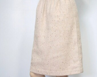 Skirt Vintage Pencil Skirt Straight Tweed Classic 1990's Recycled Wool Skirt Women's Casual Skirt Size Small Skirt High Waisted Skirt