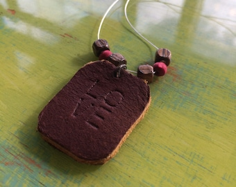 Handmade Stamped Letter Necklace