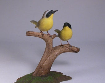 Common Yellowthroat Hand Carved wooden Bird