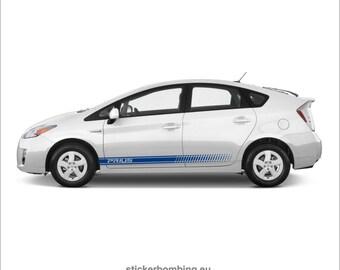 "Toyota Prius lower panel door stripes vinyl graphics and decals kits 2013 2017 - ""Prius Stripes"""