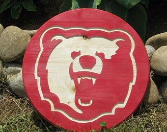 Bear -  Routed Wood Disk 3D Wall Decor - Color Options DSK12