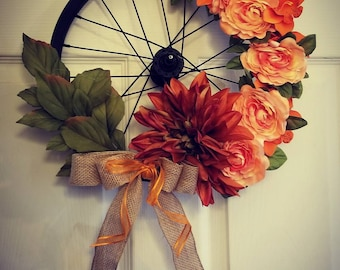 Black matted bicycle wheel