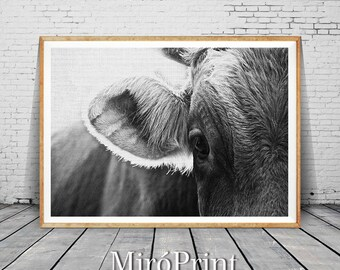 Cow Print, Cow Nursery Art, Farm Animal Wall Art, Animal Print, Printable Art, Nursery Farm Animal Print, Farm Animal Nursery Decor, Cow Art
