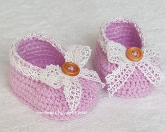 Crochet baby shoes,shoes for baby, handmade girl's booties, baby crochet shoes, handmade shower gift, booties for baby, crochet booties