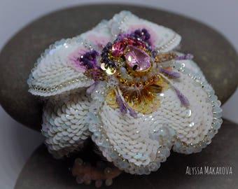 Brooch orchid Miltonia