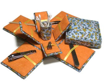 Etui Box Manicure Kit Floral Print