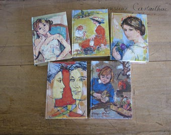 1960s French books by Henri Troyat with gorgeous illustrations