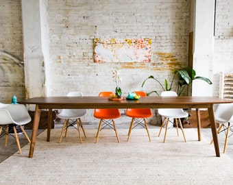 Large Dining Table, Modern Dining Table, Industrial Table, Conference Table,  Solid Wood