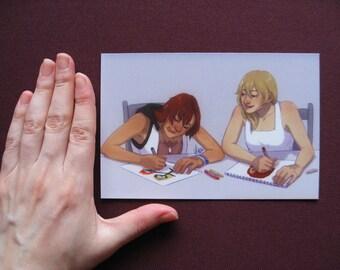 Kingdom Hearts Postcard Print - Kairi and Namine
