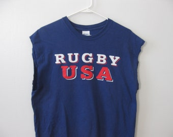 Rugby USA t-shirt shirt Sleeveless Adult Large