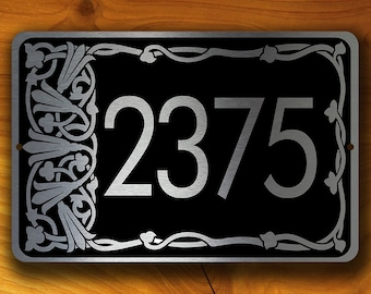 PERSONALIZED ADDRESS SIGN, Outdoor Address Signs, Traditional Address Plaque, Hanging Address Sign, Hanging Address Plaque, Address Plaque