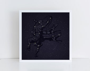 Bootes Constellation Print, Bootes Constellation Poster, Bootes Constellation Art, Constellation Art, Constellation Poster, Stars Art Print