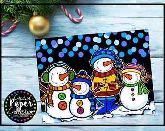 Snowman Pals: Notecards and Envelopes (20 Pack)