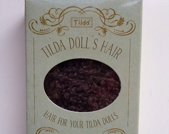 Tilda dolls hair dark brown