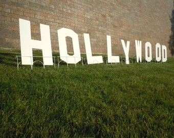 Hollywood Party Sign for Yard Decoration