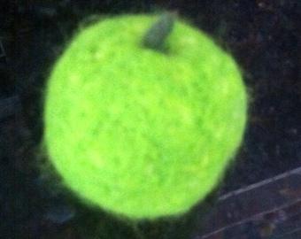 Miniature needle felted apple