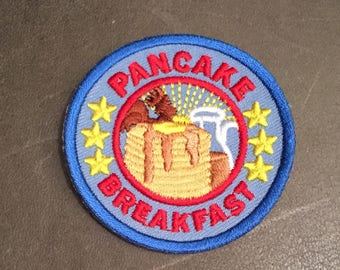 Pancake Breakfast Merit Badge Maple Syrup Pat of Butter Stars Fundraiser Adult Scout Patch
