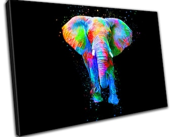 Elephant Abstract Canvas Print - Wall Art - Framed Print - Ready To Hang