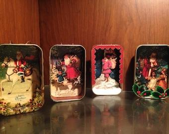 Vintage Tin Christmas Ornaments