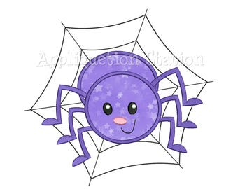 Cute Bugzee Spider Applique Machine Embroidery Design boy girl baby insect bug INSTANT DOWNLOAD