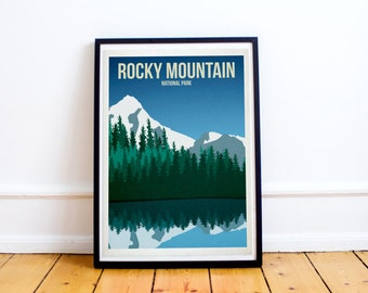 Rocky Mountain National Park - US National Parks - Art Print - (Available In Many Sizes)