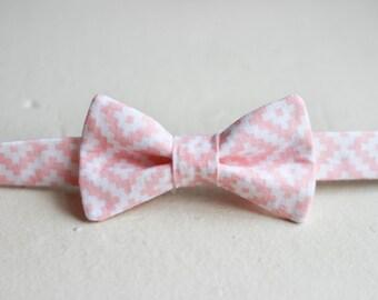 Blush Pink Boys Bow Tie -  Blush Pink Bow Tie, Light Pink Baby Bow Tie, Little Boys Bow Tie, Pink Easter Bow Tie, Blush Pink Boys Bowtie