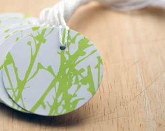Green & White Gift Tags // Blank Tags // Favor Tags // Hang Tag // Gift Wrapping // Packaging // Price Tag // Wedding Favor