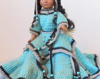 Native American Indian Doll, 12 Inch Tall,