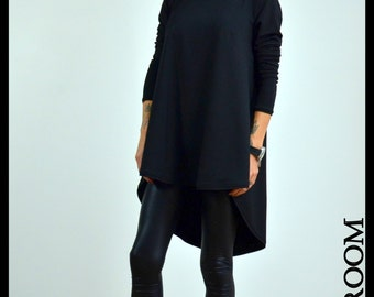 Black Shirt, Tunic Dress, Plus Size Dress, Oversize Dress, Kaftan Dress, Tunic Shirt, Plus size tunic, Summer Shirt, Black Blouse
