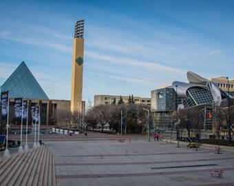 """Churchill Square Postcard 4""""x6"""" Edmonton, Alberta, Canada."""