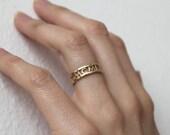 14k Gold Wedding Band, Mom Ring, Family Ring Personalized, Personalized Wedding Band, Double Band Ring, Personalized Gold Ring, Capucinne