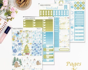 Christmas Time Deluxe Weekly Planner Sticker Kit for Erin Condren Life Planner/ Functional Stickers/ Happy Planner/ Personal Planner #163