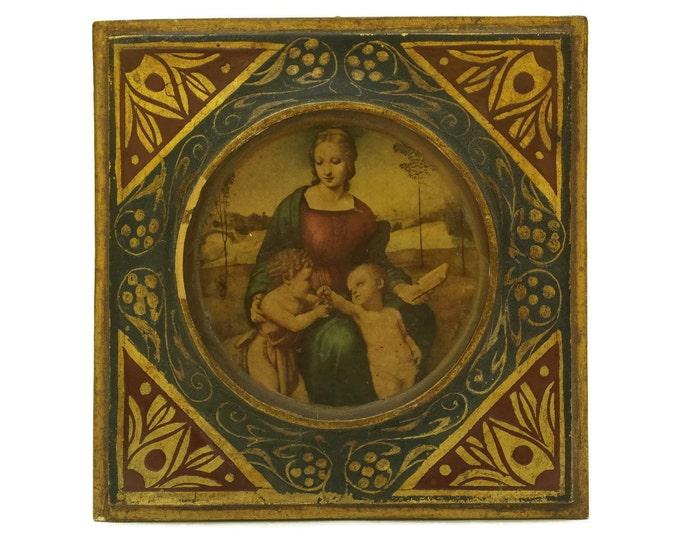 Florentine Madonna Portrait Plaque.